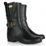 Burberry: Botas negras 'Wellington'