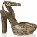Tory Burch: Sandalias con piel de serpiente 'Esther'