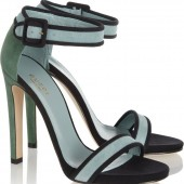 Gucci: Sandalias de gamuza Color-Block