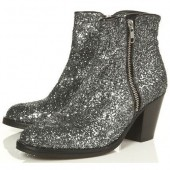 Pull and Bear: Botines con glitter 2013
